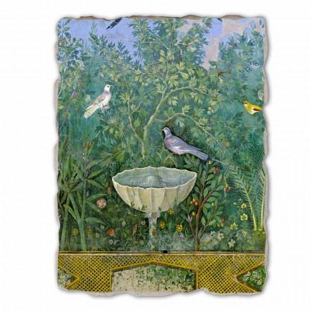 Fonte e pássaro (detalhe), arte romana, tamanho grande