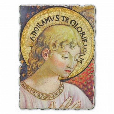 Adorar e cantar Anjos fresco por B. Gozzoli, tamanho grande
