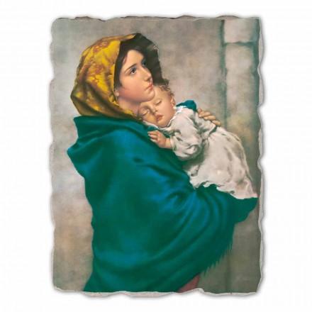 Madonnina by Ferruzzi, afresco pintado à mão, tamanho grande