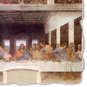 "grande afresco artesanal de Leonardo da Vinci ""Última Ceia"""