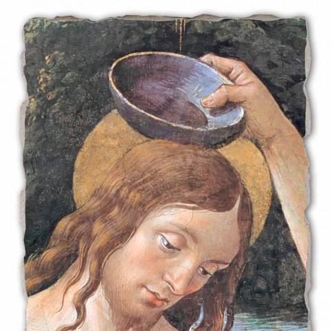 "grande afresco artesanal Perugino ""Batismo de Cristo"""