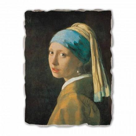 Menina com Brinco de Pérola por Johannes Vermeer, tamanho grande