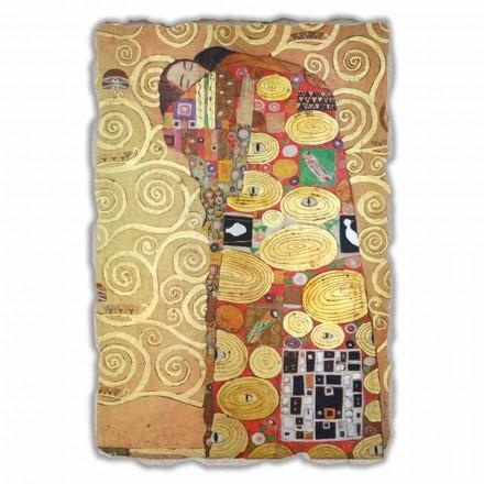 Cumprimento (o abraço) por Gustav Klimt, tamanho grande