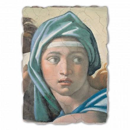 Sibila Delphic por Michelangelo, afresco pintado à mão, tamanho grande