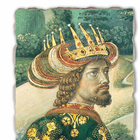 """O grande afresco Gozzoli Procissão dos Reis Magos com o Rei Melchior """""""