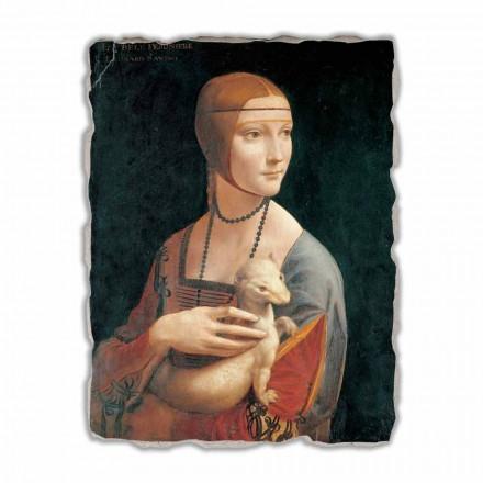 Lady with an Ermine por Leonardo da Vinci, tamanho grande