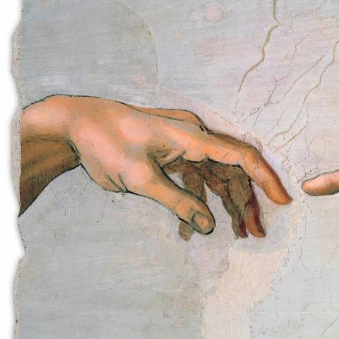 """grande afresco da """"Criação de Adão"""" de Michelangelo, particularmente"""
