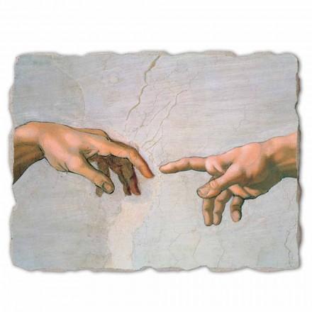 A criação de Adam por Michelangelo, tamanho grande (detalhe)