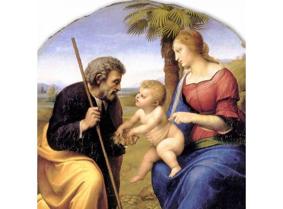 """grande afresco Raffaello Sanzio """"Sagrada Família com Palmeira"""""""