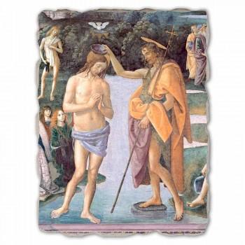 "grande peça Perugino fresco ""Batismo de Cristo"""