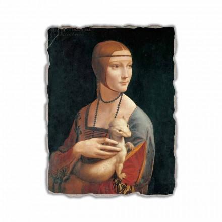 Senhora com um arminho por Leonardo da Vinci, feita na Itália