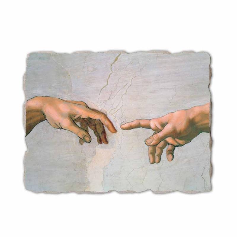 """Afresco de Michelangelo feito na Itália """"Criação de Adão"""" parte."""
