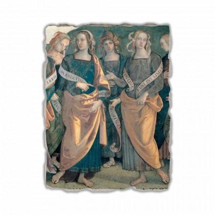 Eterno tra Angeli, Profeti e Sibille afresco (detalhe)