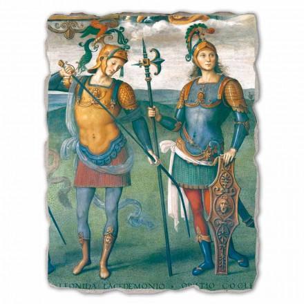 Fortitude, Temperança e Seis Heróis Antigos, Afresco Italiano