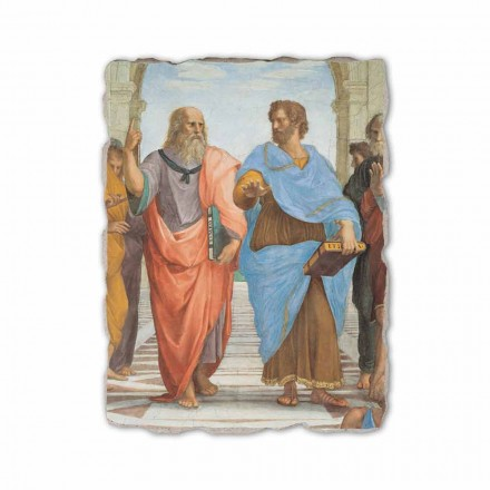 A Escola de Atenas por Raphael, afresco pintado à mão