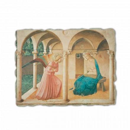 A Anunciação de Fra Angelico, afresco pintado à mão