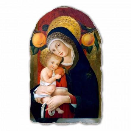Madonna com criança por Carlo Crivelli, afresco pintado à mão