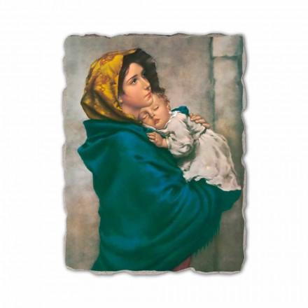 Madonna das ruas por Ferruzzi, afresco pintado à mão