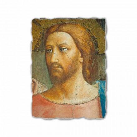 O dinheiro do tributo por Masaccio, afresco pintado à mão