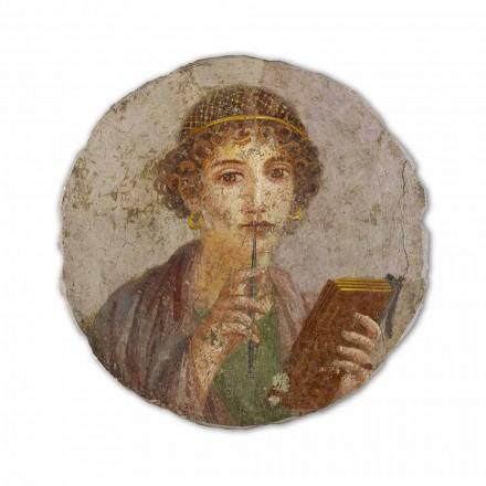 A poesia, arte romana, afresco pintado à mão