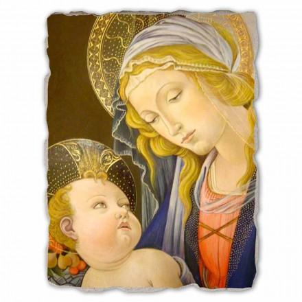 Madonna do livro por Botticelli, fresco pintado à mão