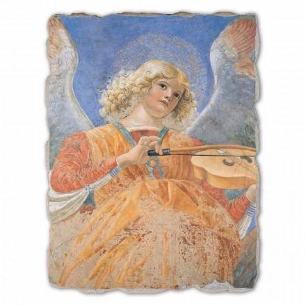 Músico Anjos por Melozzo da Forlì, pintado à mão afresco