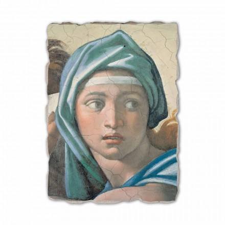 Sibila Delphic por Michelangelo, afresco pintado à mão