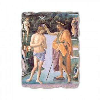 """Perugino, fresco, reprodução, """"Baptism, de, Christ"""""""