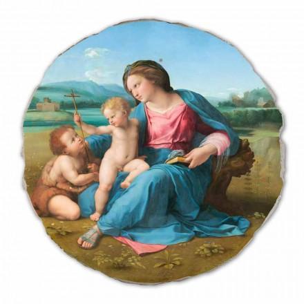 Madonna de Alba por Raphael, fresco pintado à mão