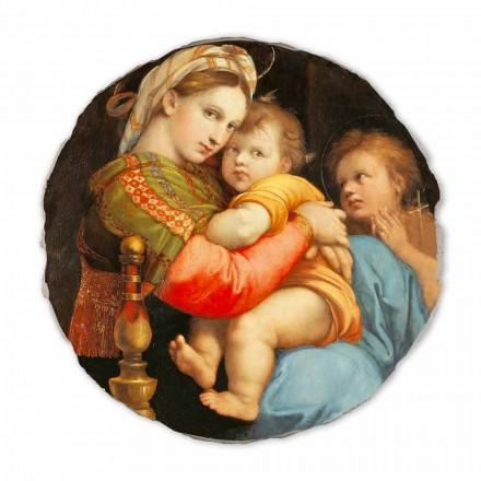 Madonna della Seggiola por Raphael, afresco pintado à mão