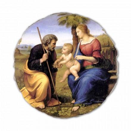 Pintando a Sagrada Família com uma Palmeira por Raphael