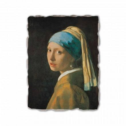 Menina com um brinco de pérola por Johannes Vermeer, feita na Itália