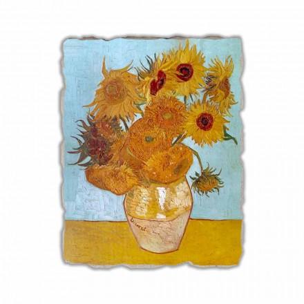 Girassóis pintados à mão do fresco por Van Gogh