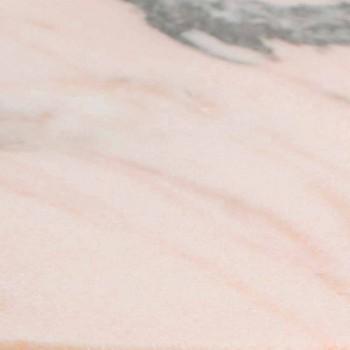 Anéis de guardanapo de mármore rosa e verde feitos na Itália 4 peças - Fulk