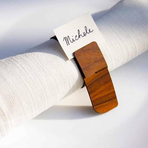 Porta-guardanapos de madeira de design moderno fabricado na Itália - Stan