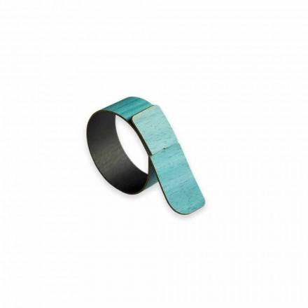 12 anéis de guardanapo de madeira de design moderno fabricados na Itália - Stan