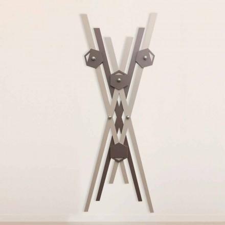 Cabide de parede Design moderno em madeira colorida para entrada - Picasso
