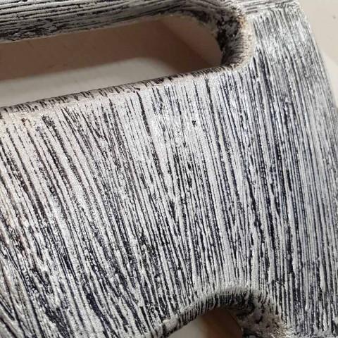 Design de cabide de parede decorado à mão em folha de prata Holt