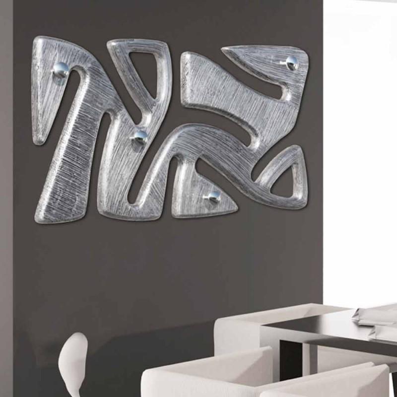 Cabide de parede decorado à mão com design de folha de prata Holt