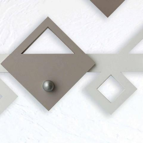 Cabide de parede em madeira branco e bege Design geométrico moderno - Klimt