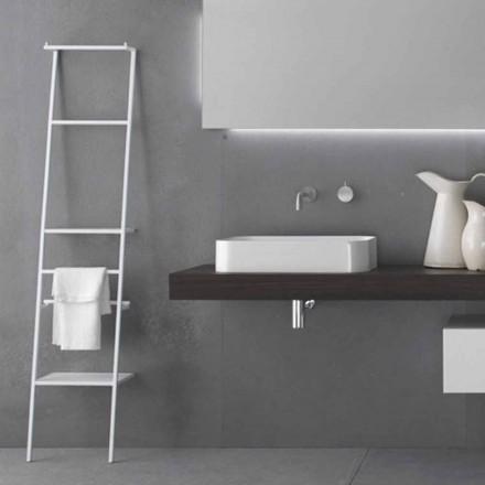 Cabide Escada de Design Moderno Branco ou Colorido - Caloina