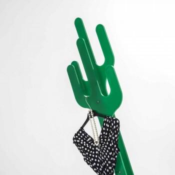 Cabide contemporâneo verde design Cactus, feito na Itália