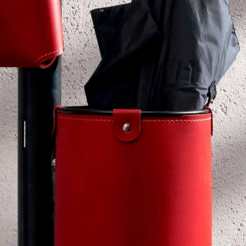 Cabide de Design Moderno em Couro Regenerado Made in Italy - Ercole
