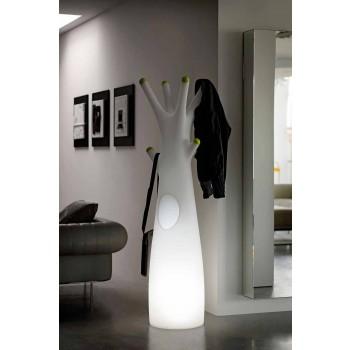 Cabide Luminous Coat em Polietileno com Luz LED Fabricado na Itália - Oldia