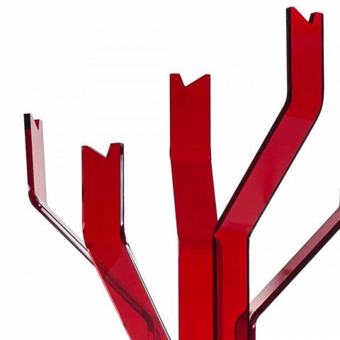 Gancho vermelho com 5 ganchos Andrea, design moderno