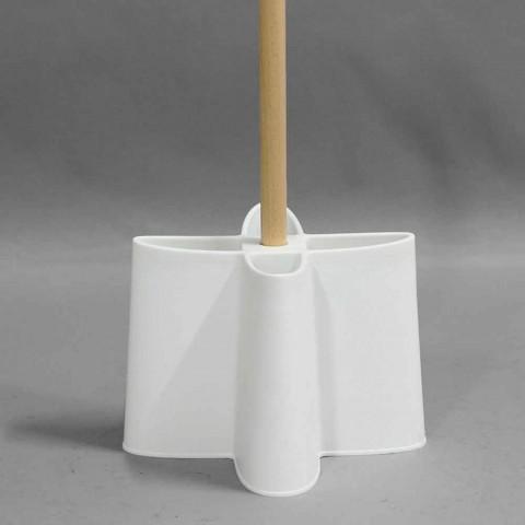 Porta guarda-chuva de faia natural e polipropileno Nurri