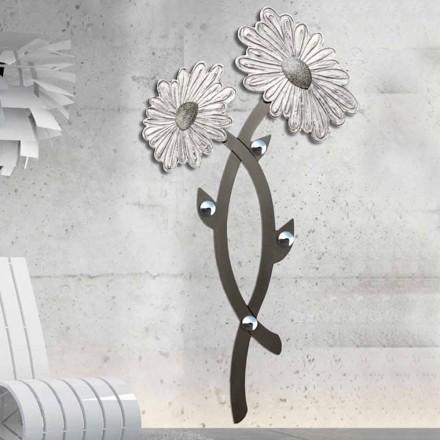 Cabide de parede Clarke, cor prata, design moderno