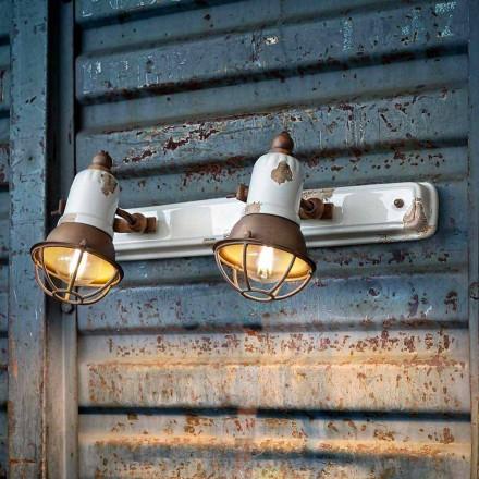 Candeeiro de parede Amelia com dois focos reguláveis da Ferroluce