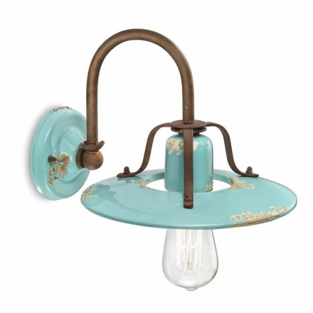 Gladys country spotlight applique em metal e cerâmica by Ferroluce