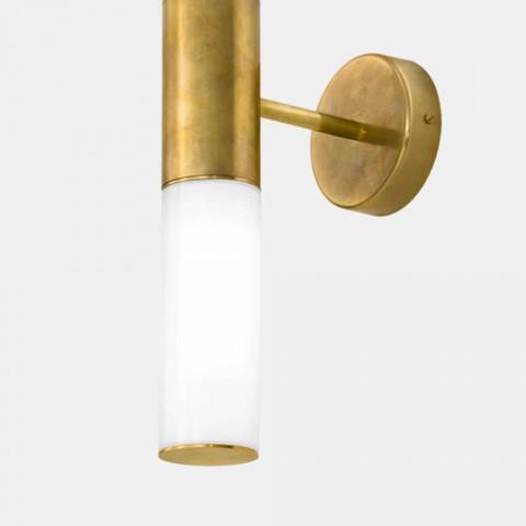 Arandela com 2 luzes em latão e vidro Made in Italy - Etoile por Il Fanale